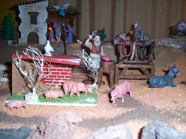 Cerdos y Charcutero. Belén de la Familia Pérez García (La Orotava - Tenerife)