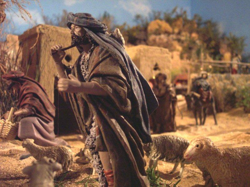Pastor con ovejas. Belén de José Guerrero (Málaga)