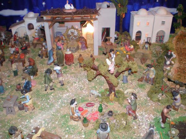 la anunciacion a los pastores. Belén de la Familia Baeza Fernández (Murcia)