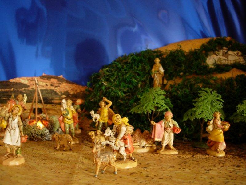 los pastores ven la estrella. Belén de Clara y Rosalía Juarranz (Madrid)