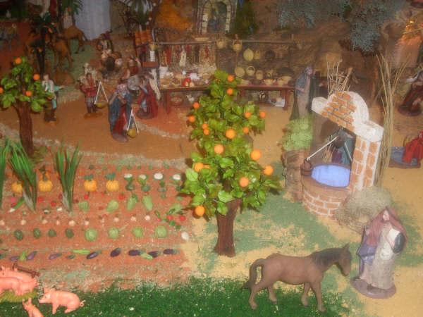 huerto y pozo. Belén de David Peinado e Hijo (Sevilla)