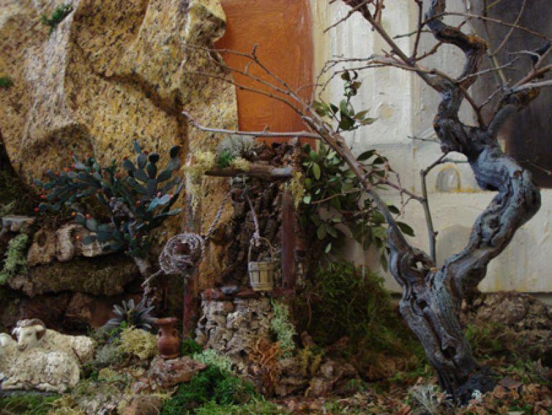 arbol  y  pozo. Belén de Joaquín Font