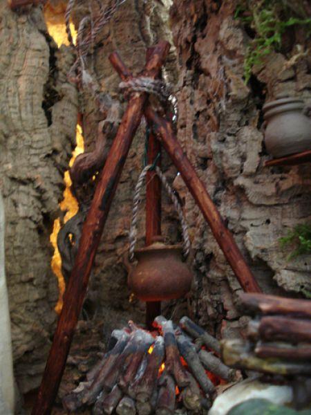 el  fuego. Belén de Joaquín Font