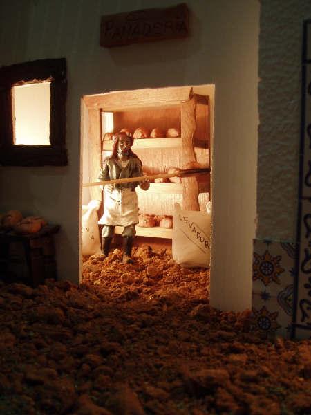 panadero. Belén de Manuel Pozo Campos (Casariche - Sevilla)