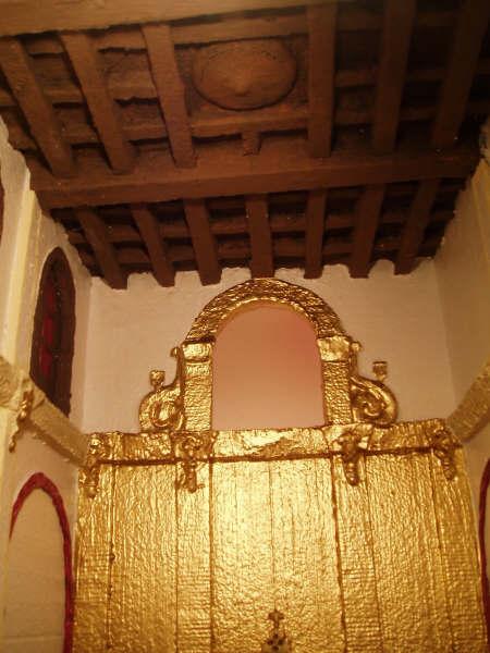 techo del nacimiento. Belén de Manuel Pozo Campos (Casariche - Sevilla)