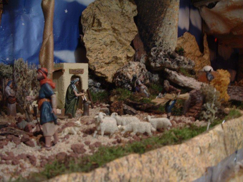 pastor y rebano. Belén de Mokeka L. Suarez (Madrid)