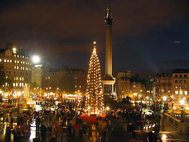 Trafalgar Square en Navidad. Londres (Inglaterra) (Londres)