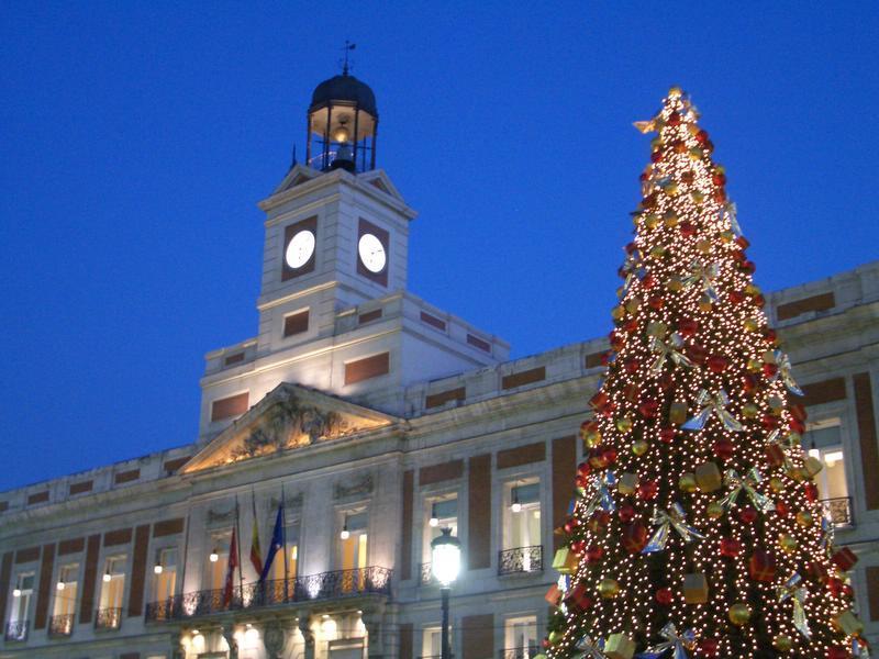 Madrid Puerta del Sol Diciembre 2004. Navidad 2004 en Madrid