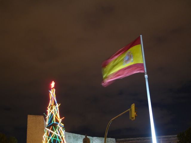 Detalle Arbol de Colon. Navidad 2005 en Madrid