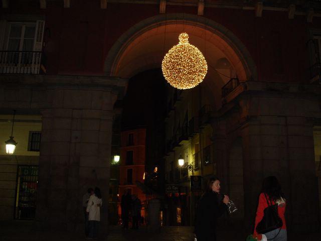Detalle Plaza Mayor. Navidad 2005 en Madrid