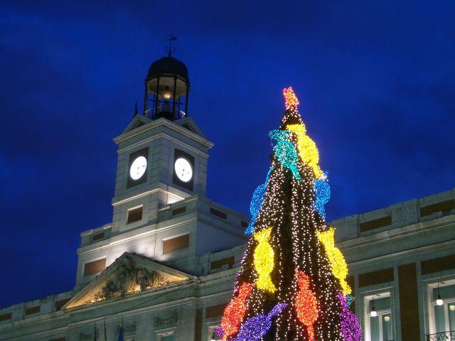Detalle Puerta del Sol. Navidad 2005 en Madrid
