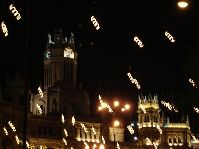 Detalle de las espirales. Navidad 2005 en Madrid
