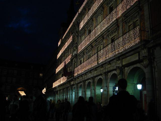 Fachada Plaza Mayor. Navidad 2005 en Madrid