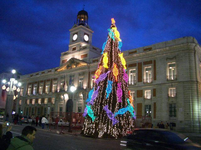 Puerta del Sol  Diciembre 2005. Navidad 2005 en Madrid