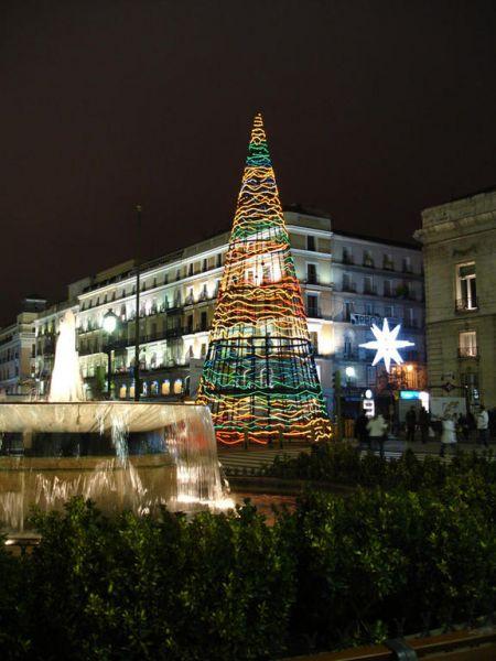 Abeto de Sol 2006. Navidad 2006 en Madrid
