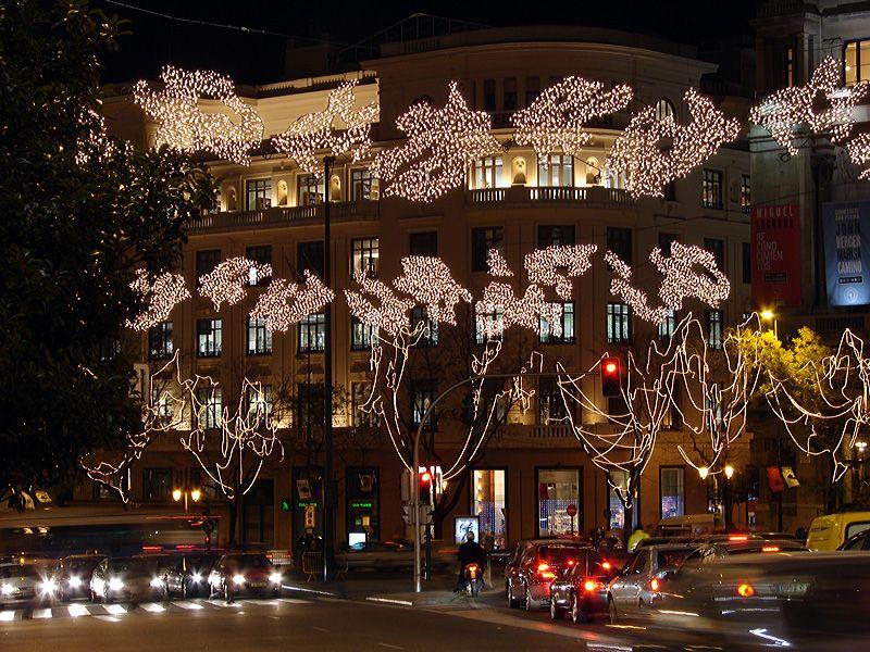 Arboles decorados. Navidad 2006 en Madrid