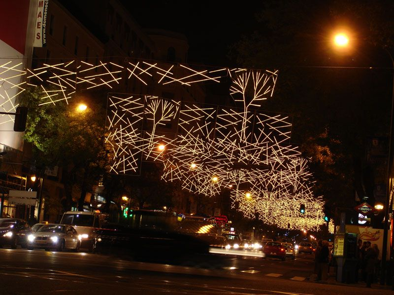Arboles. Navidad 2006 en Madrid