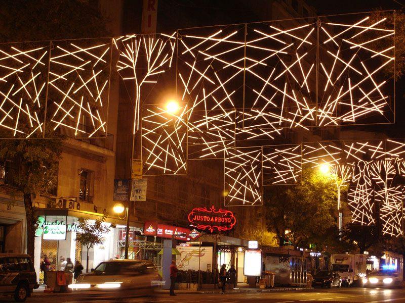 Detalle de Arboles. Navidad 2006 en Madrid