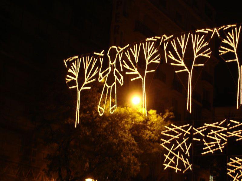 Detalle de Iluminacion. Navidad 2006 en Madrid