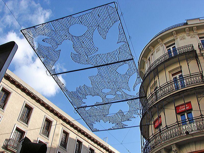 Detalle de las placas. Navidad 2006 en Madrid