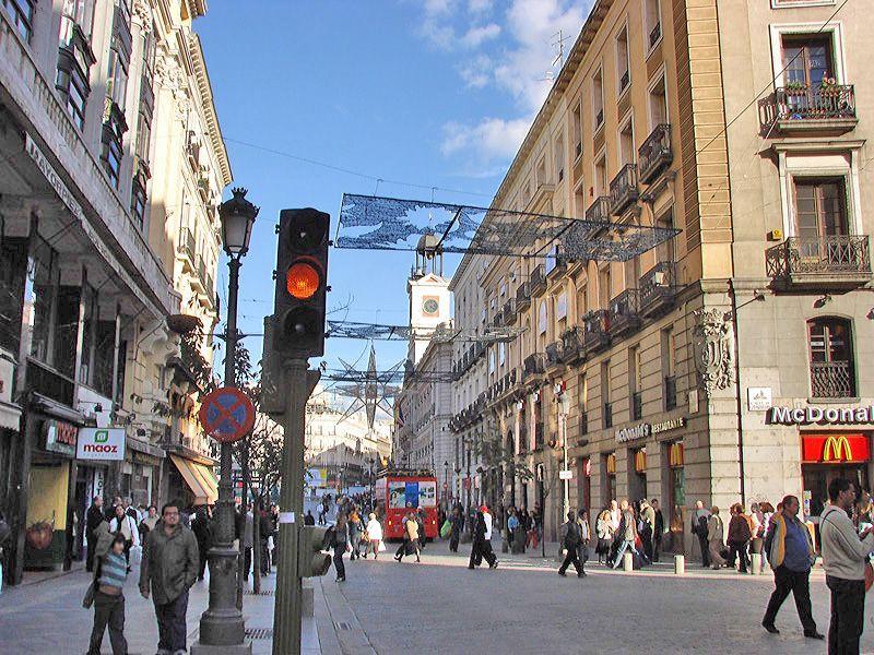 Placas luminosas. Navidad 2006 en Madrid