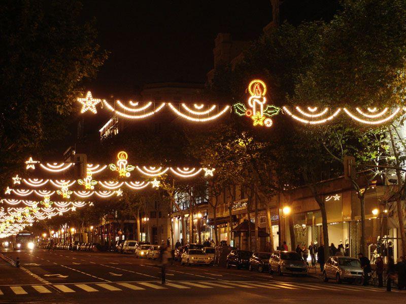 Zonas comerciales de Goya. Navidad 2006 en Madrid