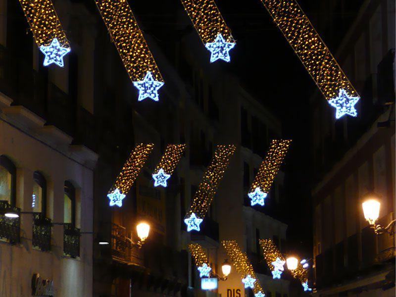 Estrellas-en-Preciados. Navidad 2007 en Madrid