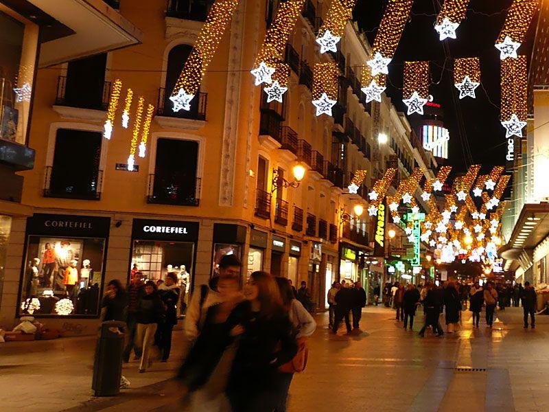 Estrellas-en-zona-centro. Navidad 2007 en Madrid