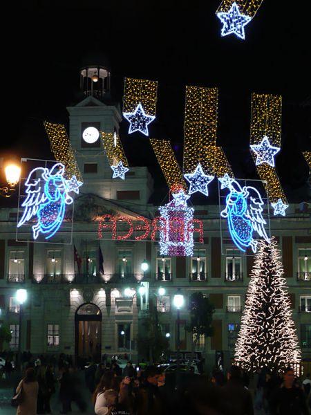 Puerta-del-Sol. Navidad 2007 en Madrid