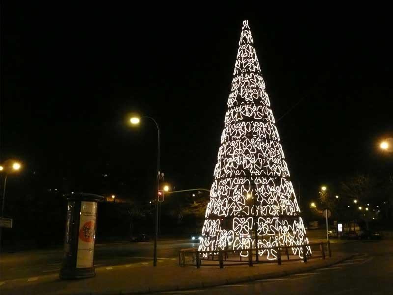 Arbol-Albufera. Navidad 2007 en Madrid