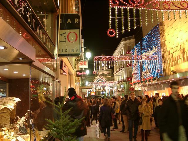 De compras por el centro. Navidades anteriores