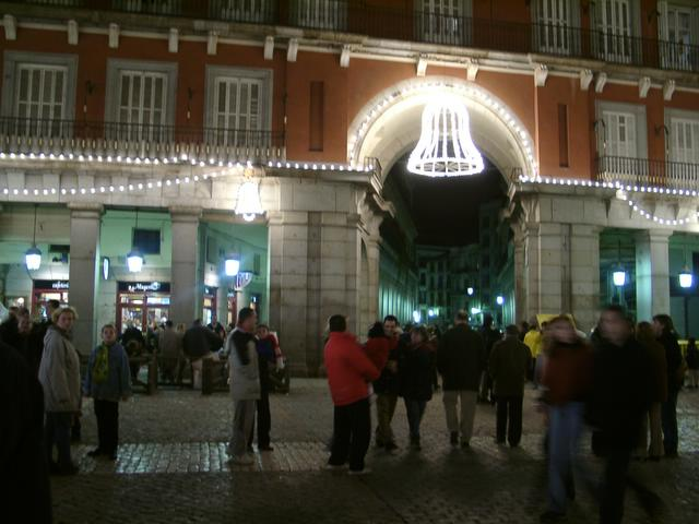 Decoracion de la Plaza Mayor en el 2000. Navidades anteriores