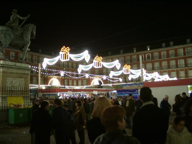 La Plaza Mayor en el 2000. Navidades anteriores