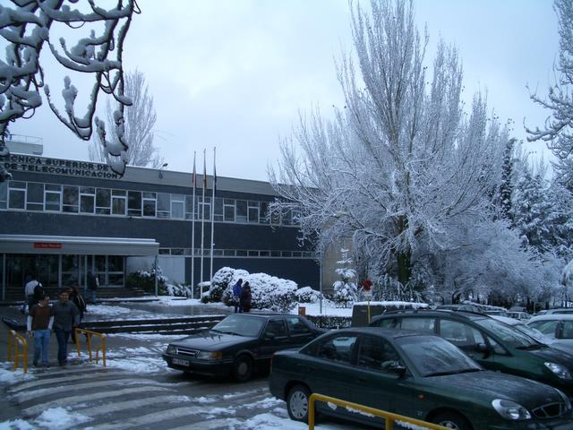 Blanco Teleco. Madrid con nieve