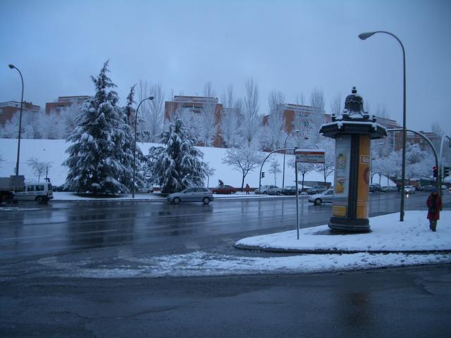 Otra avenida nevada. Madrid con nieve