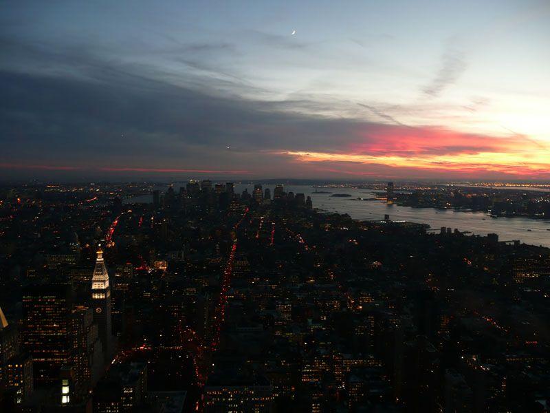 Anocheciendo en NY. Nueva York (USA)