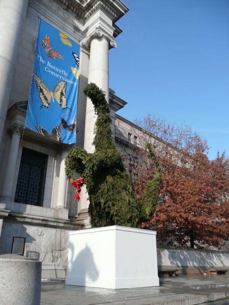 Arbol de Navidad prehistorico en el Museo. Nueva York (USA)