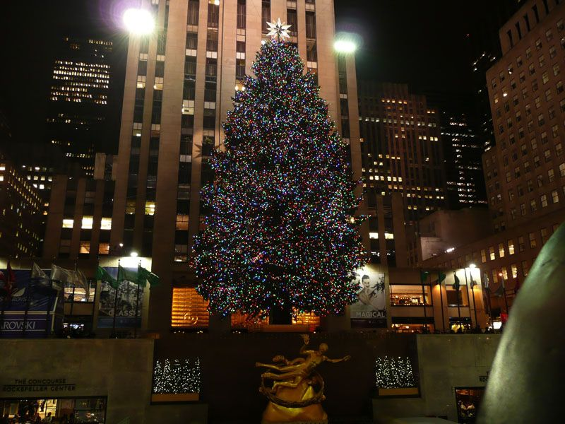 Arbol de Rockefeller Center. Nueva York (USA)