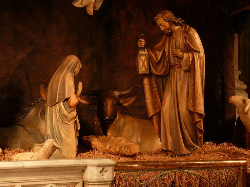 Detalle Belen en Catedral de San Patricio. Nueva York (USA)