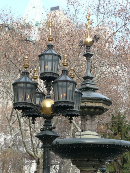 Fuente en City Hall Park. Nueva York (USA)