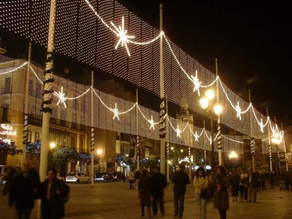 Plaza de San Francisco junto ayto. Sevilla (España)