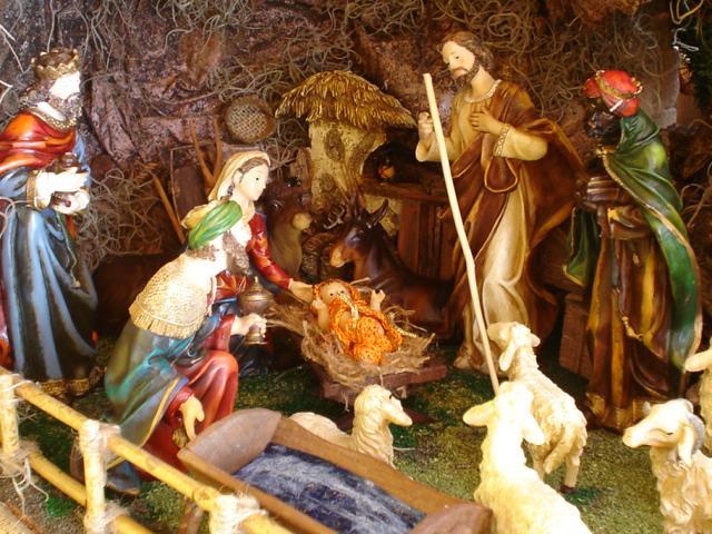 La Adoración de los Reyes Magos. Belén de Mauricio O. (Guatemala)