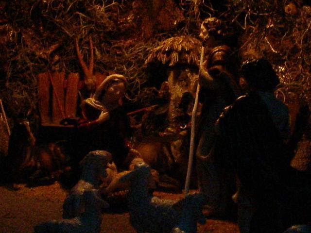 Pesebre de Noche. Belén de Mauricio (Guatemala)