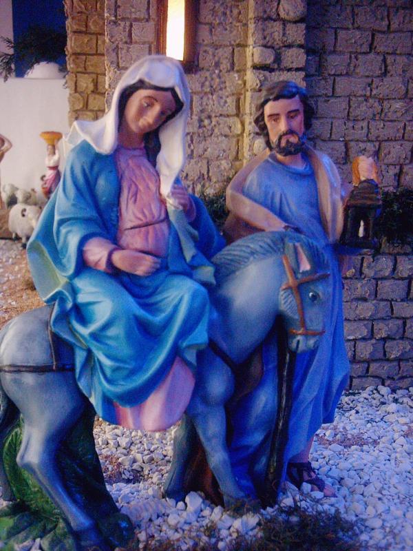 La Virgen y San José llegando a Belén 3. Belén de Fernando Leguizamón (Metán, Salta)