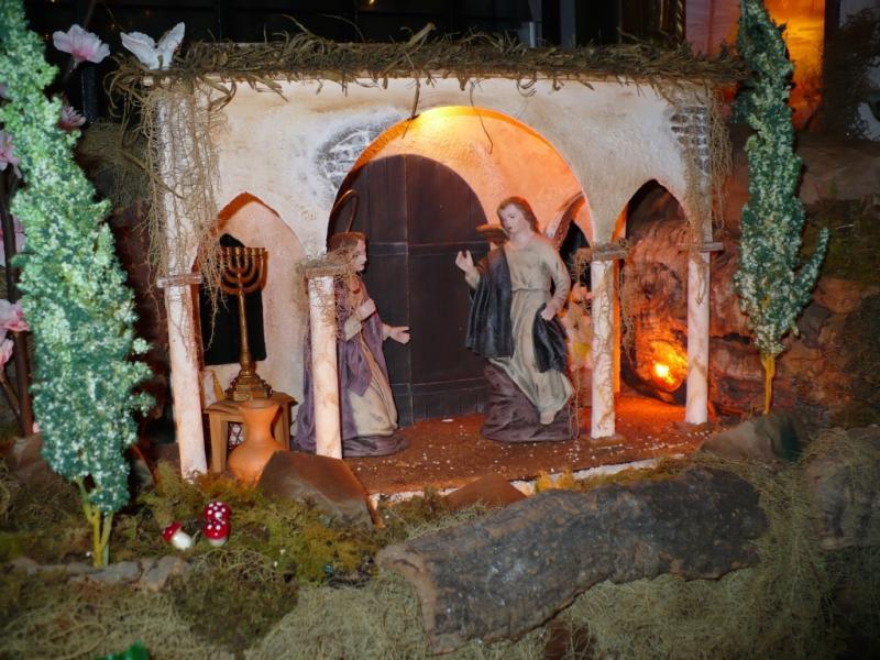 Anunciacion a la Virgen. Belén de Carlos Mendoza (Panma)