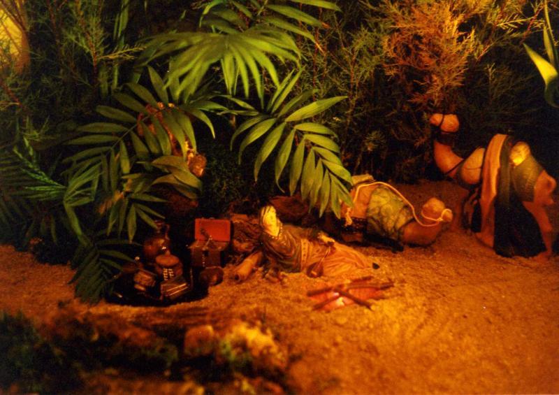 Mercader descansando. Belén de jesusayala (Córdoba)