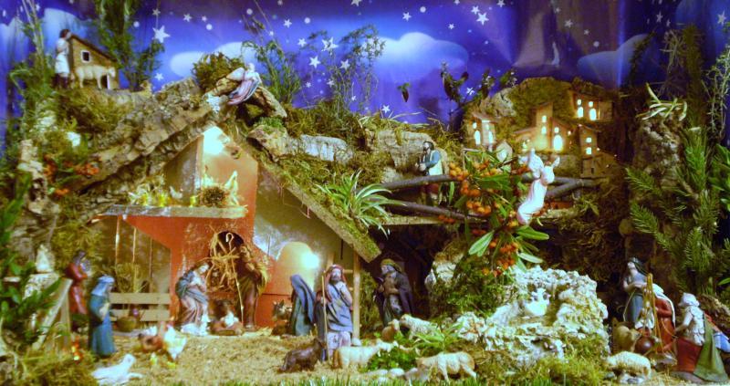 Navidad 2009 001. Belén de Chema (Avilés, Asturias)