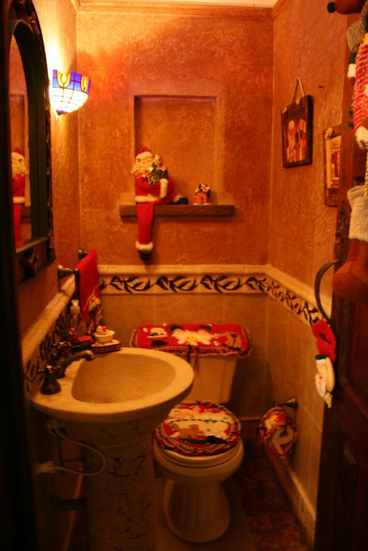 086 arreglos navideños para un baño. Belén de Maritza Bravo