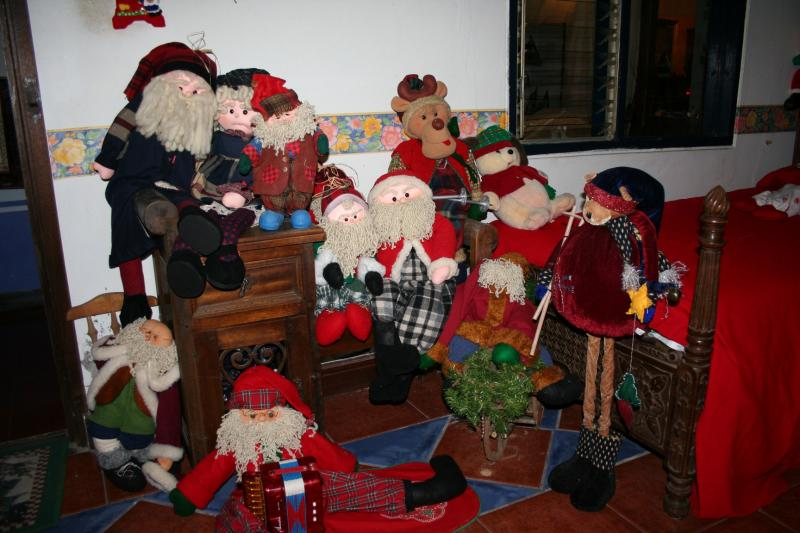 092 muñecos de navidad en trapo y paño lency. Belén de Maritza Bravo