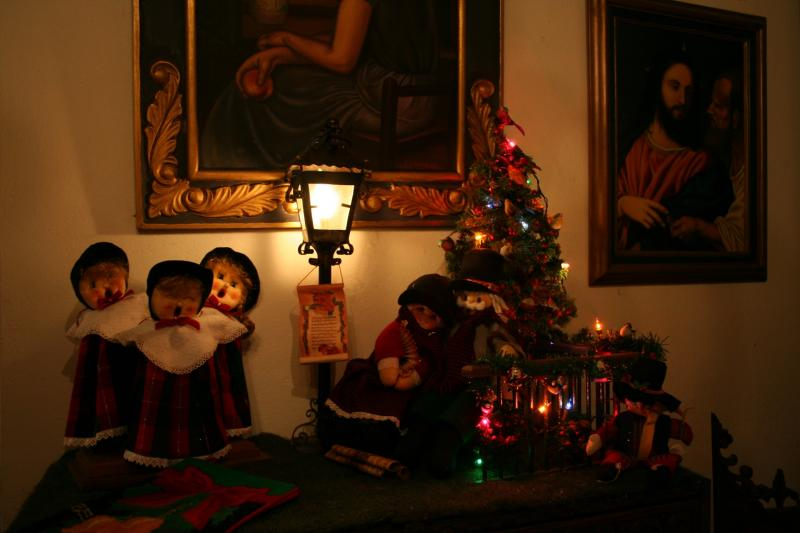 064 escena navideña en trapo. Belén de Maritza Bravo